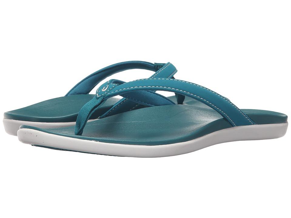 OluKai - Ho'opio (Teal/Teal) Women's Sandals