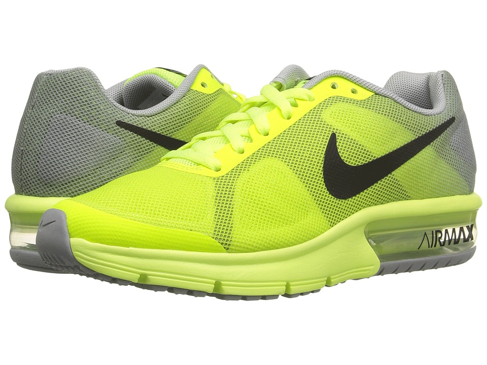 Nike Kids - Air Max Sequent (Big Kid) (Volt/Wolf Grey/Black) Boys Shoes