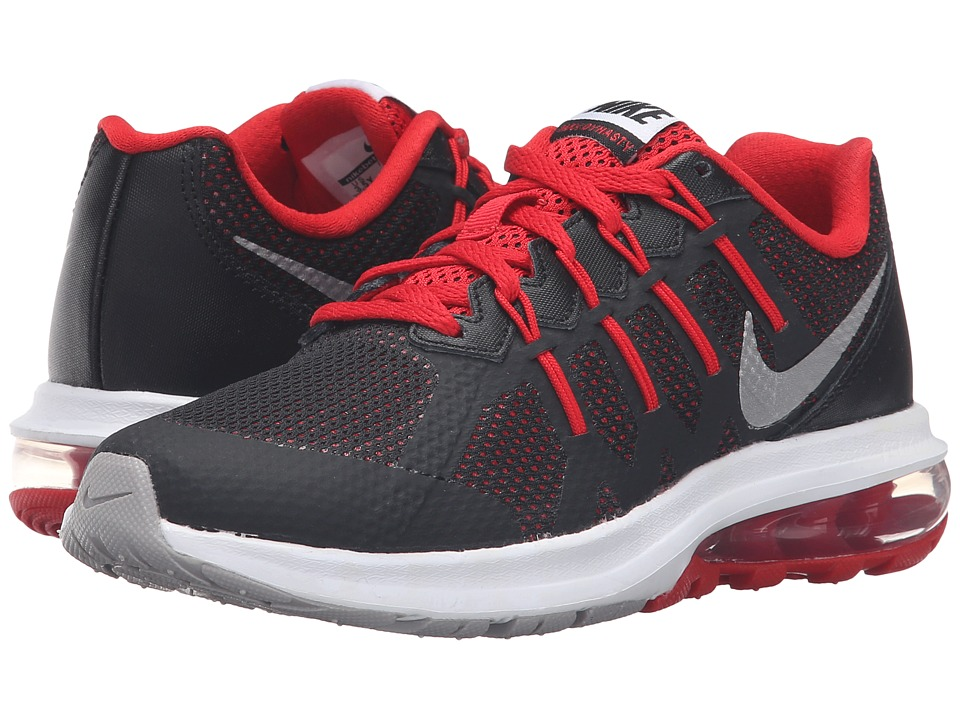 Nike Kids - Air Max Dynasty (Big Kid) (Black/White/University Red/Metallic Silver) Boys Shoes