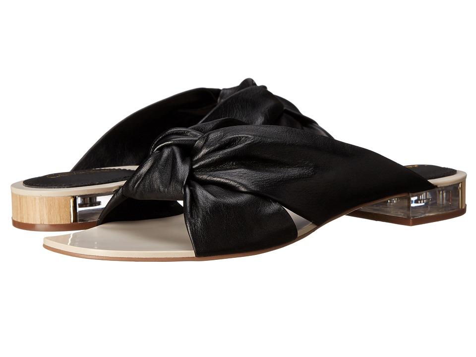 Calvin Klein - Ambra (Black Cervo Leather) Women's Sandals