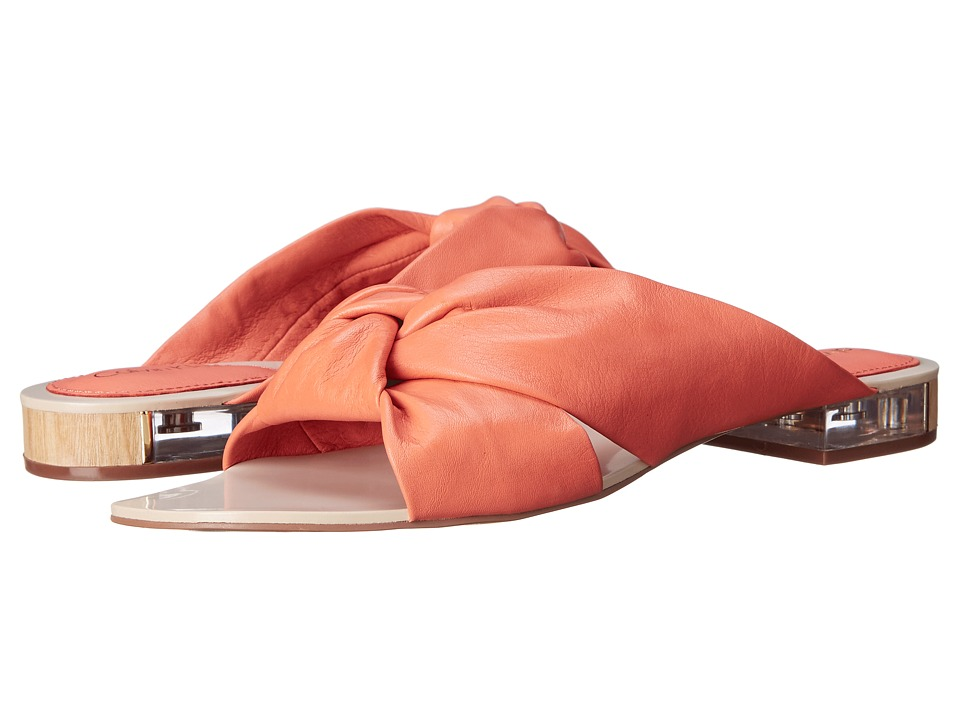 Calvin Klein - Ambra (Salmon Rose Cervo Leather) Women's Sandals