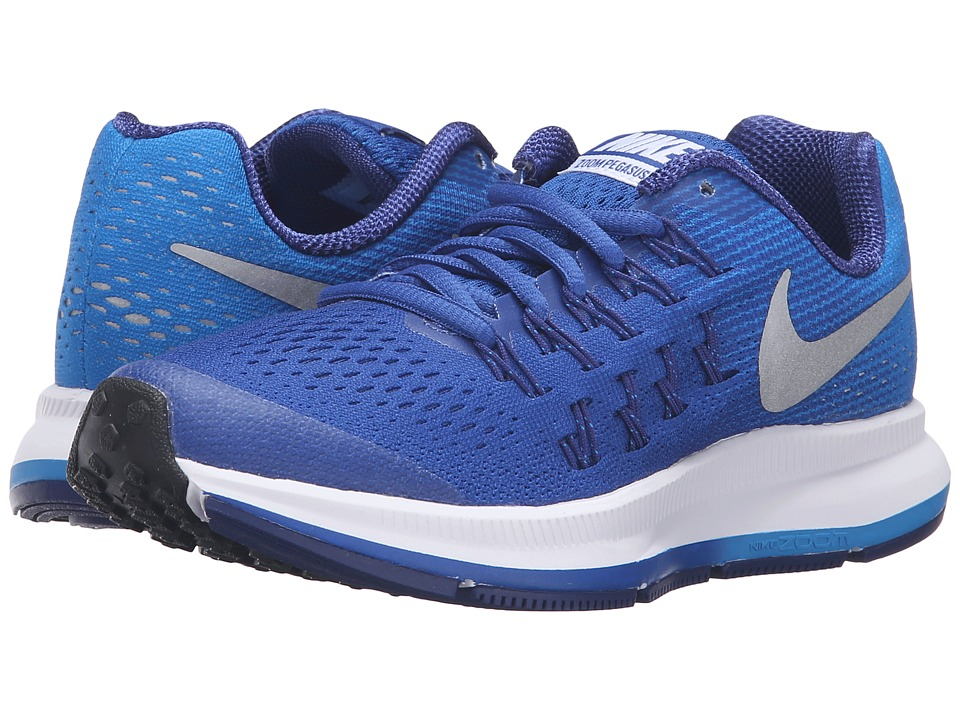 Nike Kids - Zoom Pegasus 33 (Little Kid/Big Kid) (Game Royal/Photo Blue/Deep Royal Blue/Metallic Silver) Boys Shoes