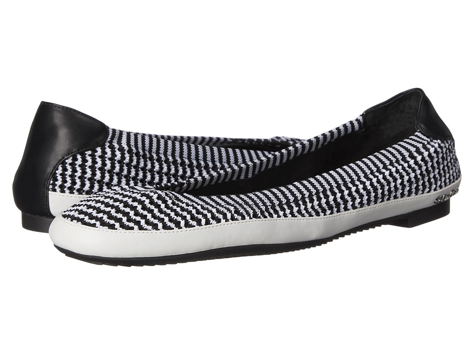 Calvin Klein - Anabelle (Black/Platinum White/Black Stretch Knit Fabric/Leather) Women's Shoes