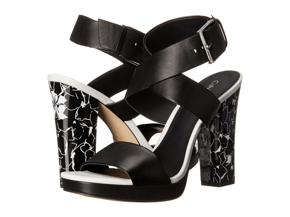 Calvin Klein - Bao (Black Leather) High Heels