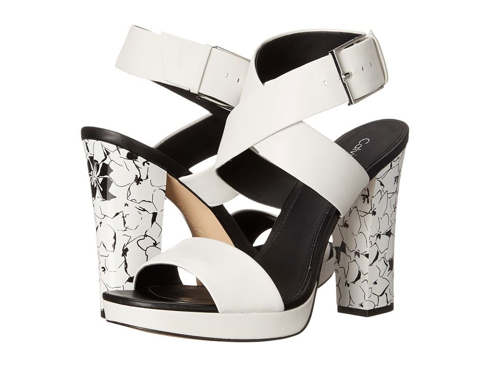 Calvin Klein Bao (Plat White Leather) High Heels