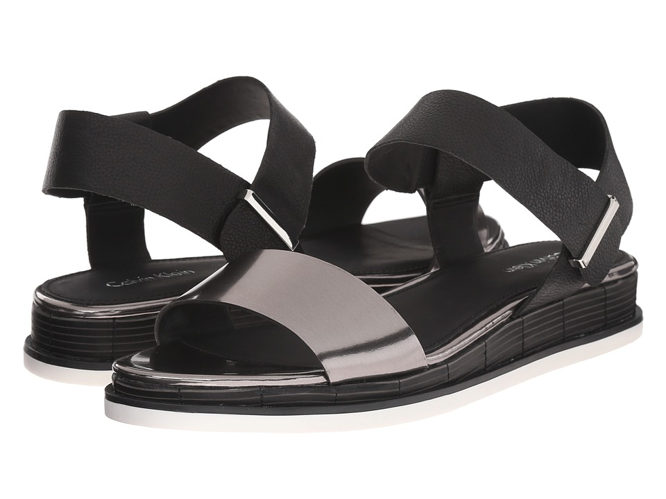 Calvin Klein - Cadan (Anthracite/Black Metallic Box/Leather) Women's Sandals