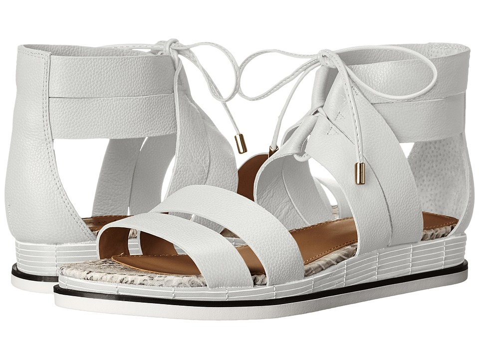 Calvin Klein - Caterina (Plat White Toscana Leather) Women's Sandals