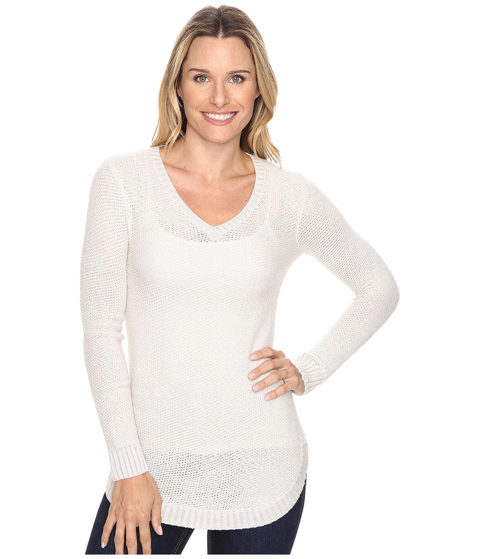 Toad&Co - Galena V-Neck Sweater (Polar Bear) Women's Sweater
