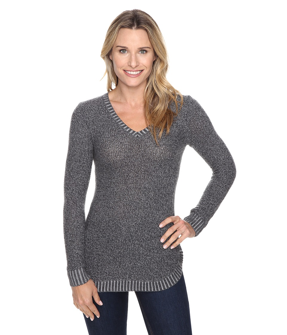 Toad&Co - Galena V-Neck Sweater (Heather Grey) Women's Sweater