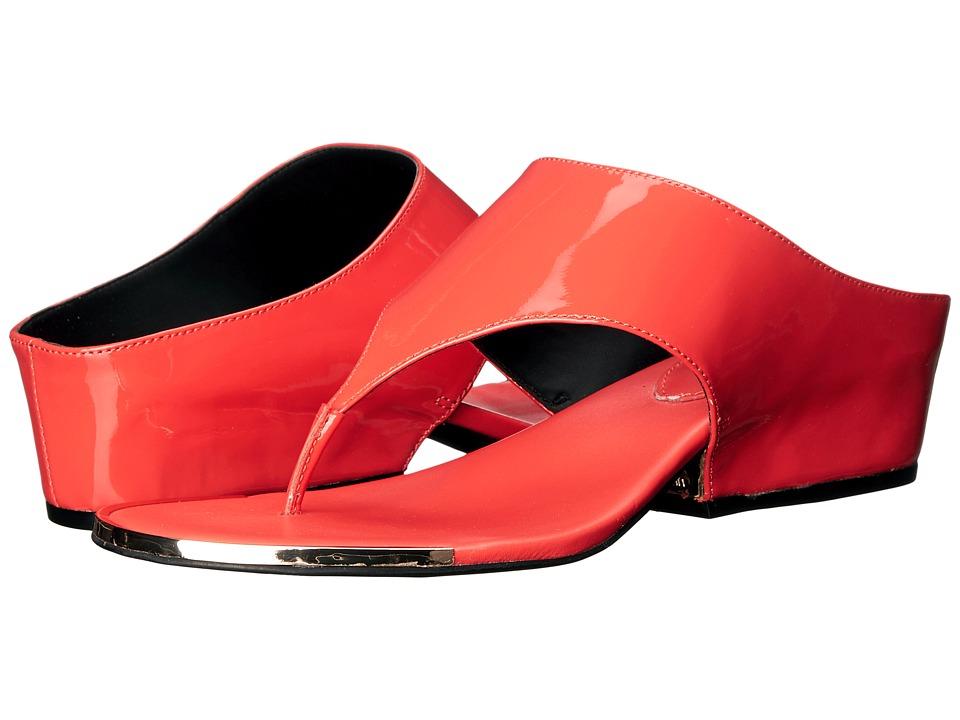Calvin Klein Ciara (Deep Coral Patent) Women