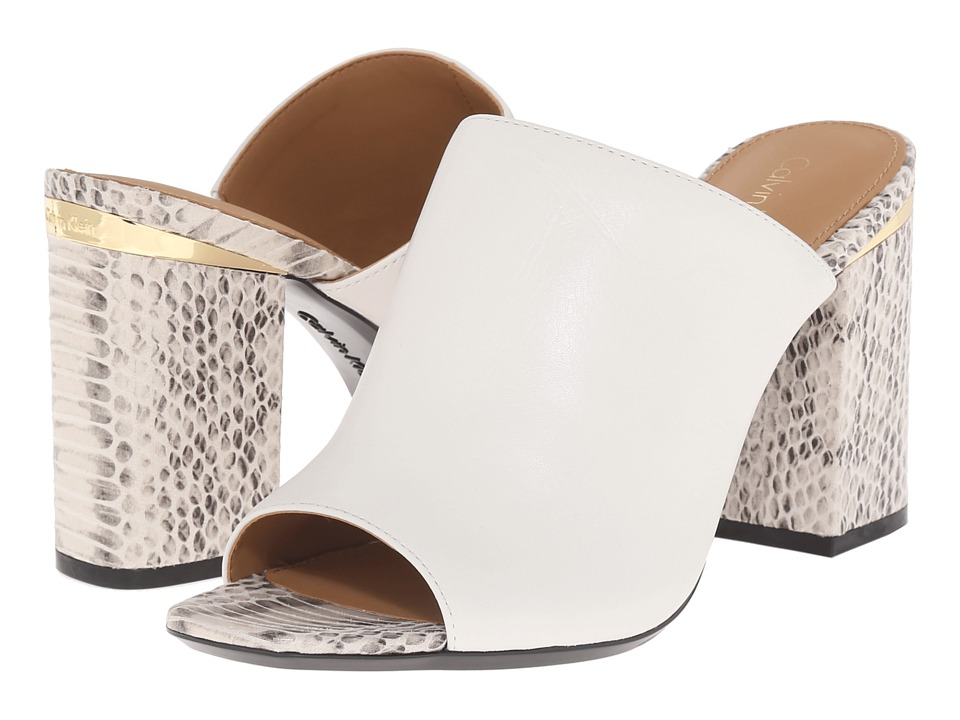 Calvin Klein - Cice (Platinum White Leather) High Heels