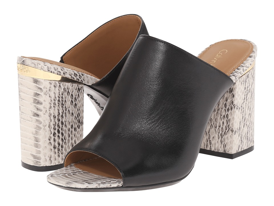 Calvin Klein - Cice (Black Leather) High Heels