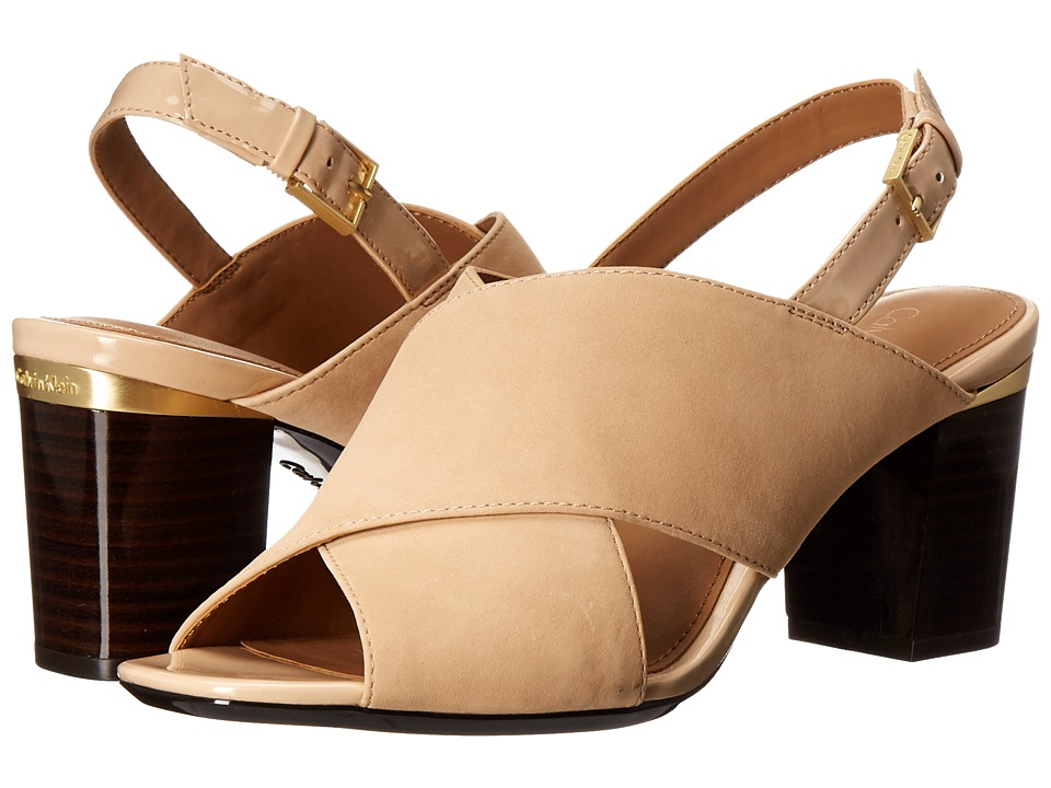 Calvin Klein Cindya (Sandstorm Nubuck/Patent) High Heels