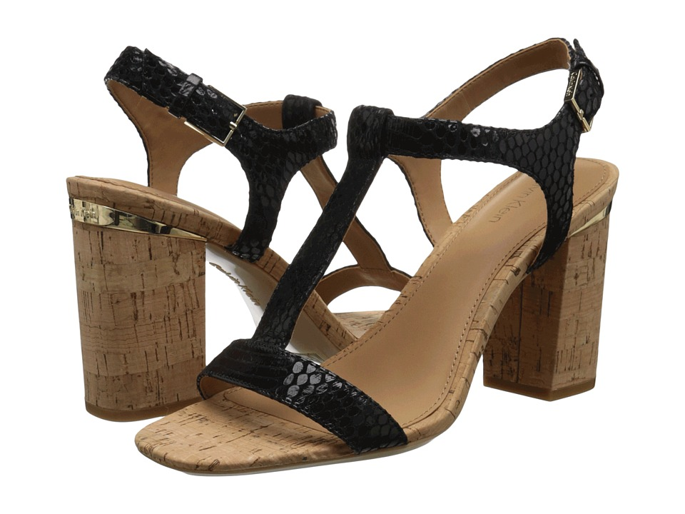 Calvin Klein - Crimson (Black Muted Snake Print Leather) High Heels