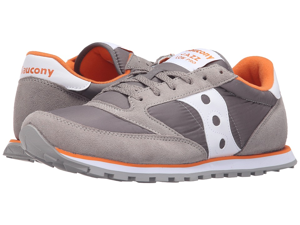 Saucony Originals - Jazz Low Pro (Grey/White/Orange) Men's Classic Shoes