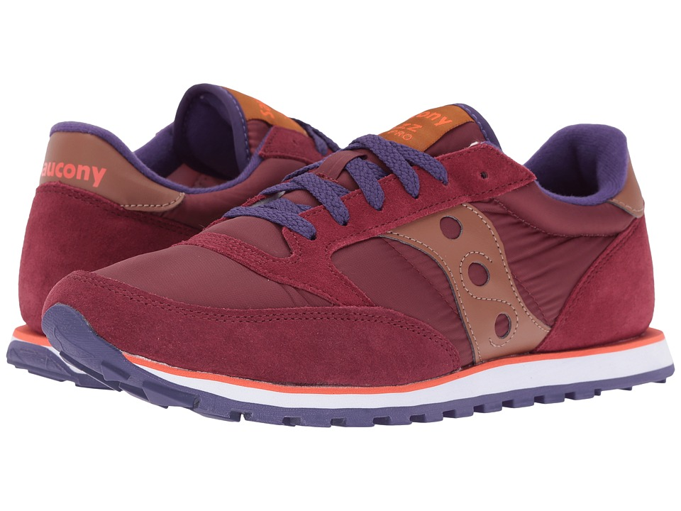 Saucony Originals - Jazz Low Pro (Wine) Men's Classic Shoes