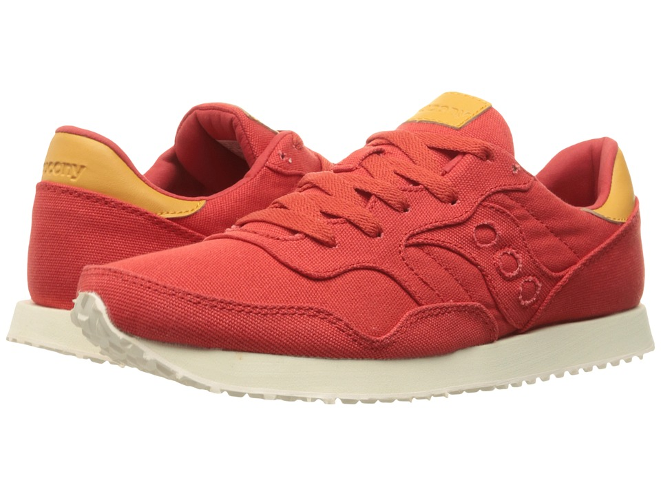 Saucony Originals - DXN Trainer (Red Canvas) Men's Lace up casual Shoes