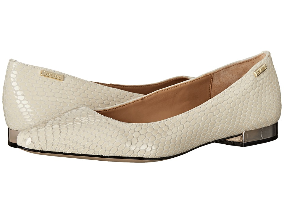 Calvin Klein - Ellasandra (Soft White Laquered Snake Print Leather) Women