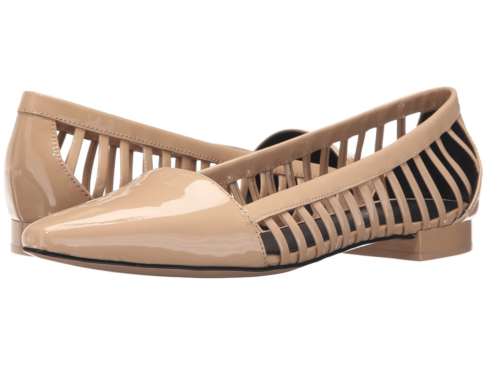 Calvin Klein - Elouise (Sandstorm Patent) Women's Flat Shoes