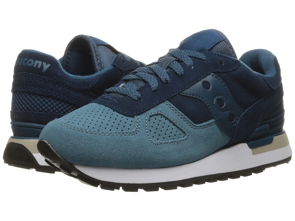 Saucony Originals - Shadow O Suede (Blue/Teal) Women's Lace up casual Shoes