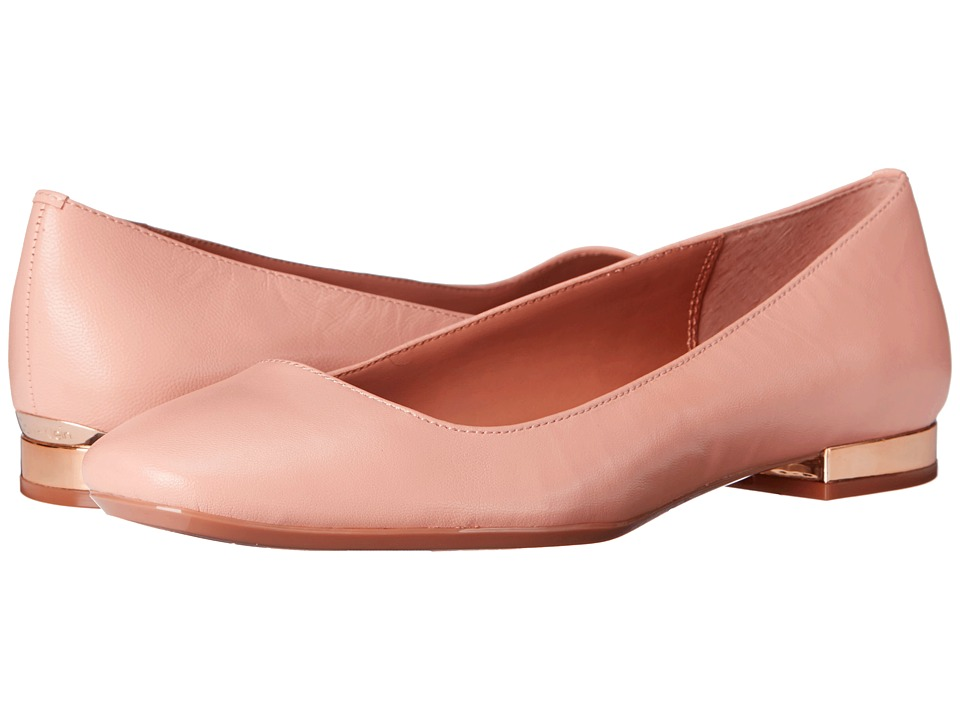 Calvin Klein - Felice (Blush Nude Leather) Women's Flat Shoes