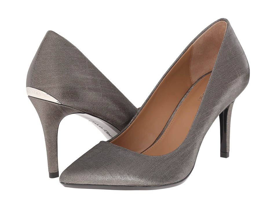 Calvin Klein - Gayle (Anthracite Coated Matte Linen) High Heels