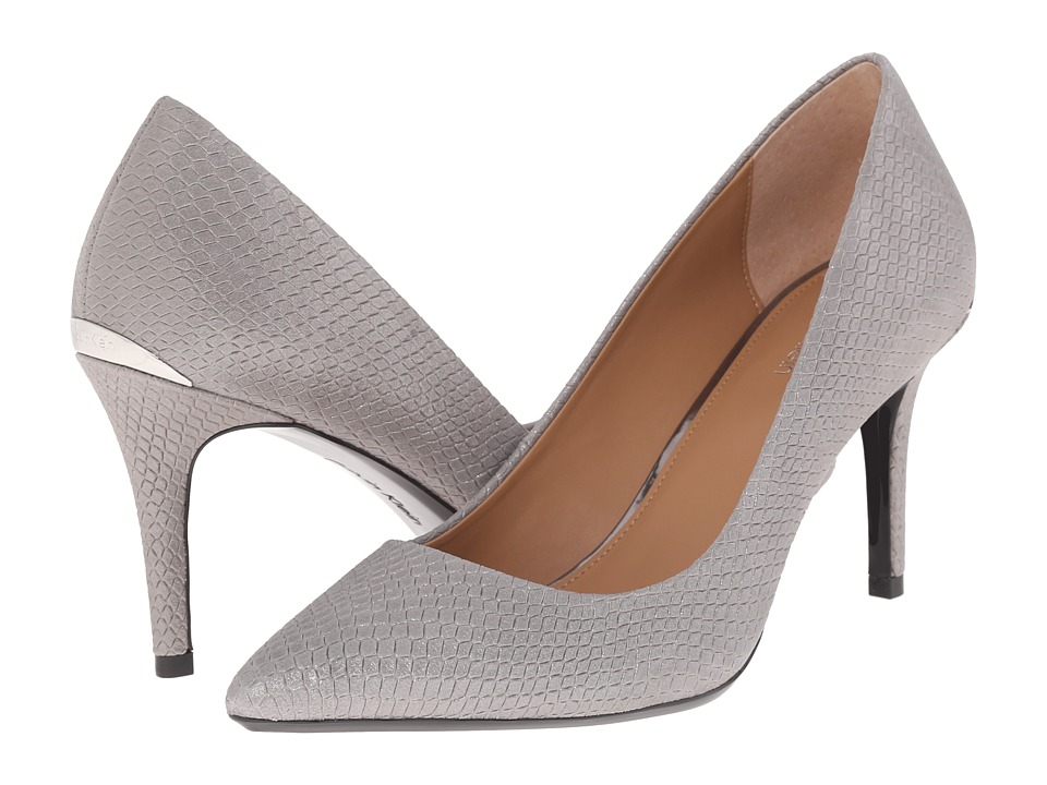 Calvin Klein - Gayle (Anthracite Powdered Snake Print Leather) High Heels