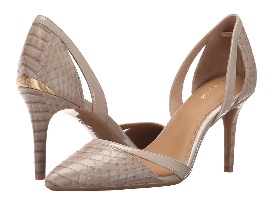 Calvin Klein - Giorgi (Cocoon Snake Print/Patent) High Heels