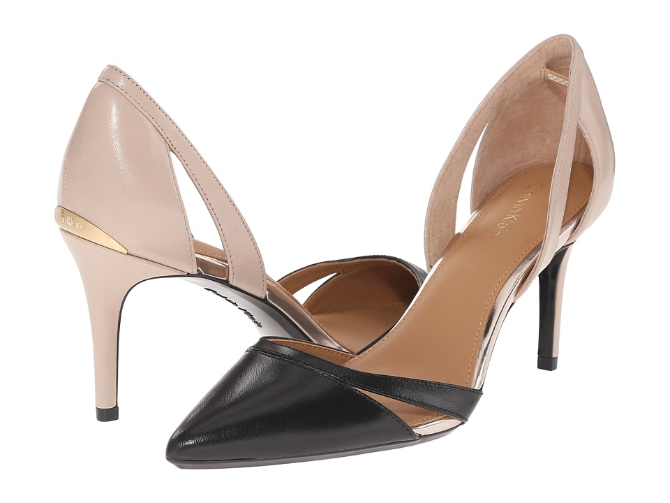 Calvin Klein - Giorgi (Black/Cocoon Leather) High Heels
