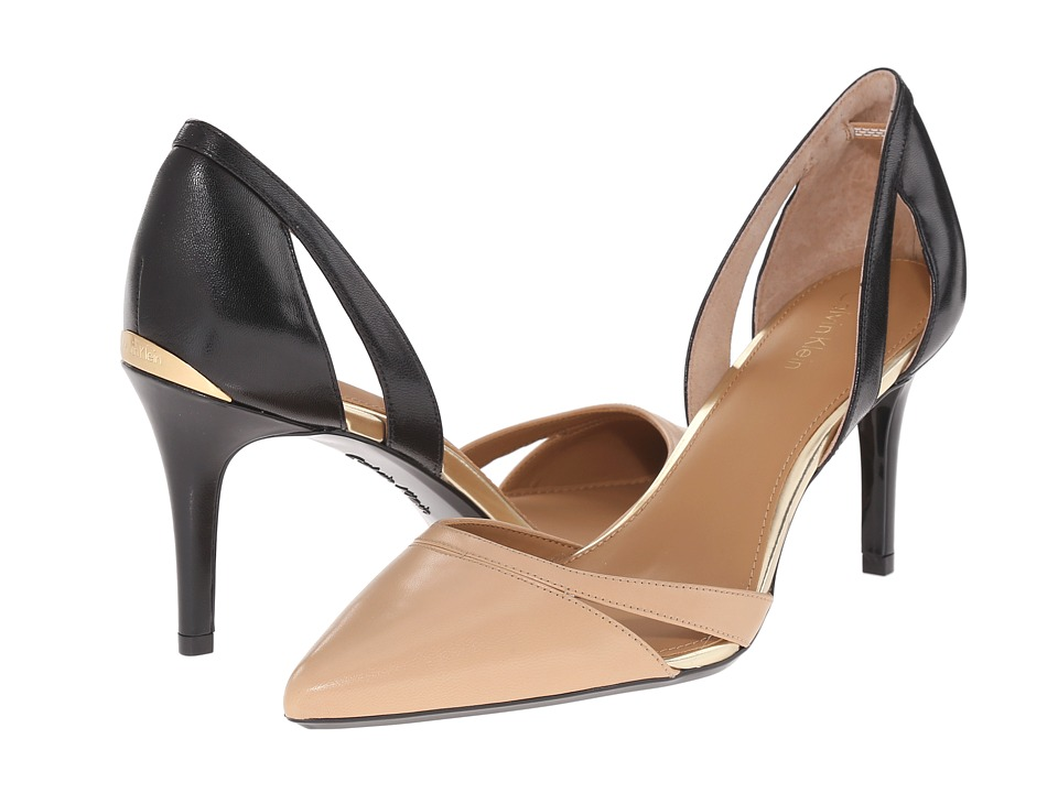Calvin Klein - Giorgi (Sandstorm/Black Leather) High Heels
