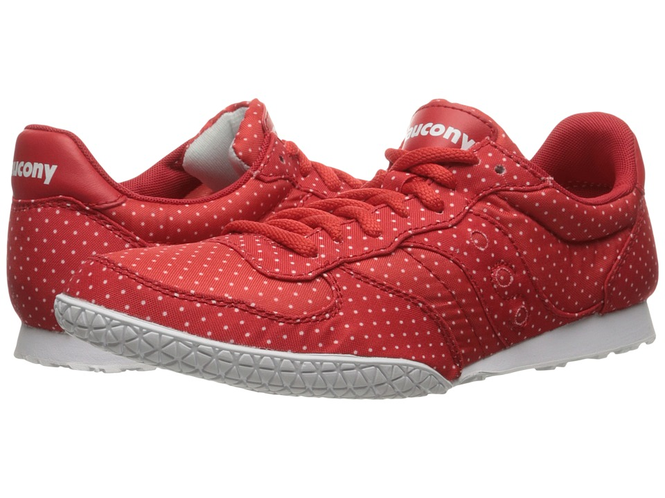 Saucony Originals - Bullet Dots (Red) Women's Lace up casual Shoes