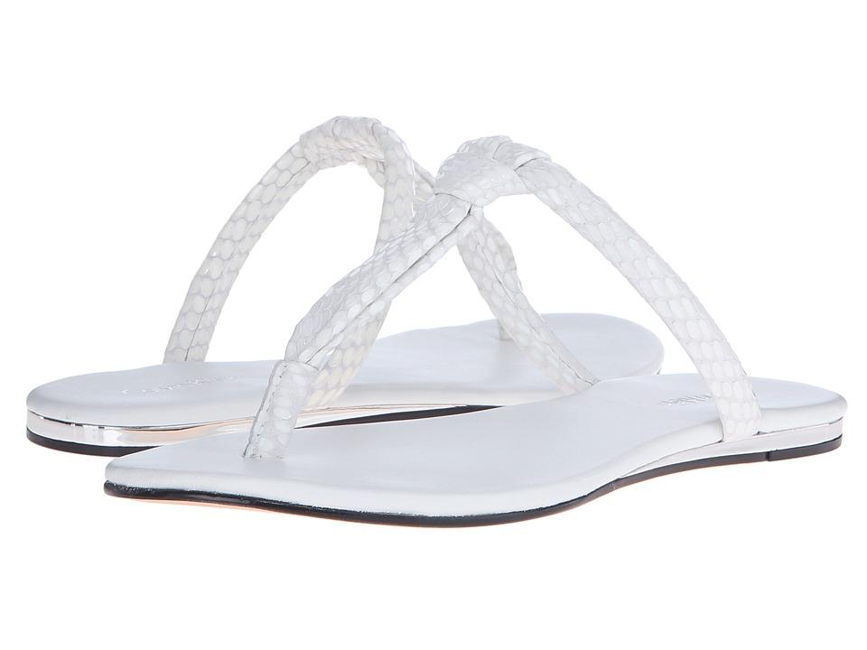 Calvin Klein Harla (Platinum White Laquered Snake Print Leather) Women