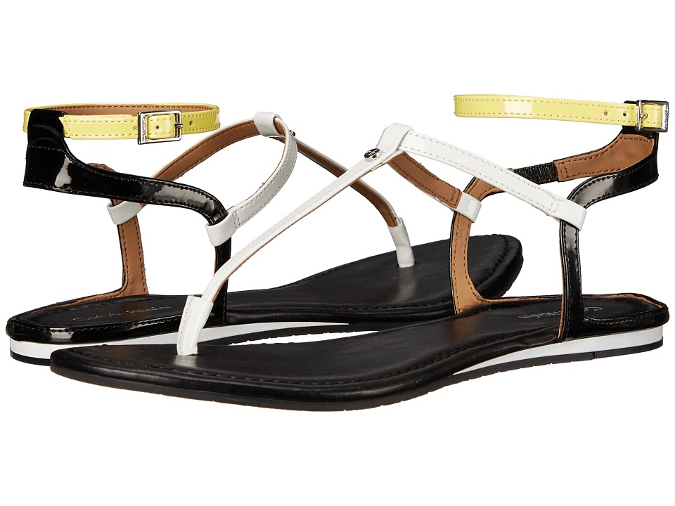 Calvin Klein - Haubrey (White/Black/Lemon) Women's Sandals