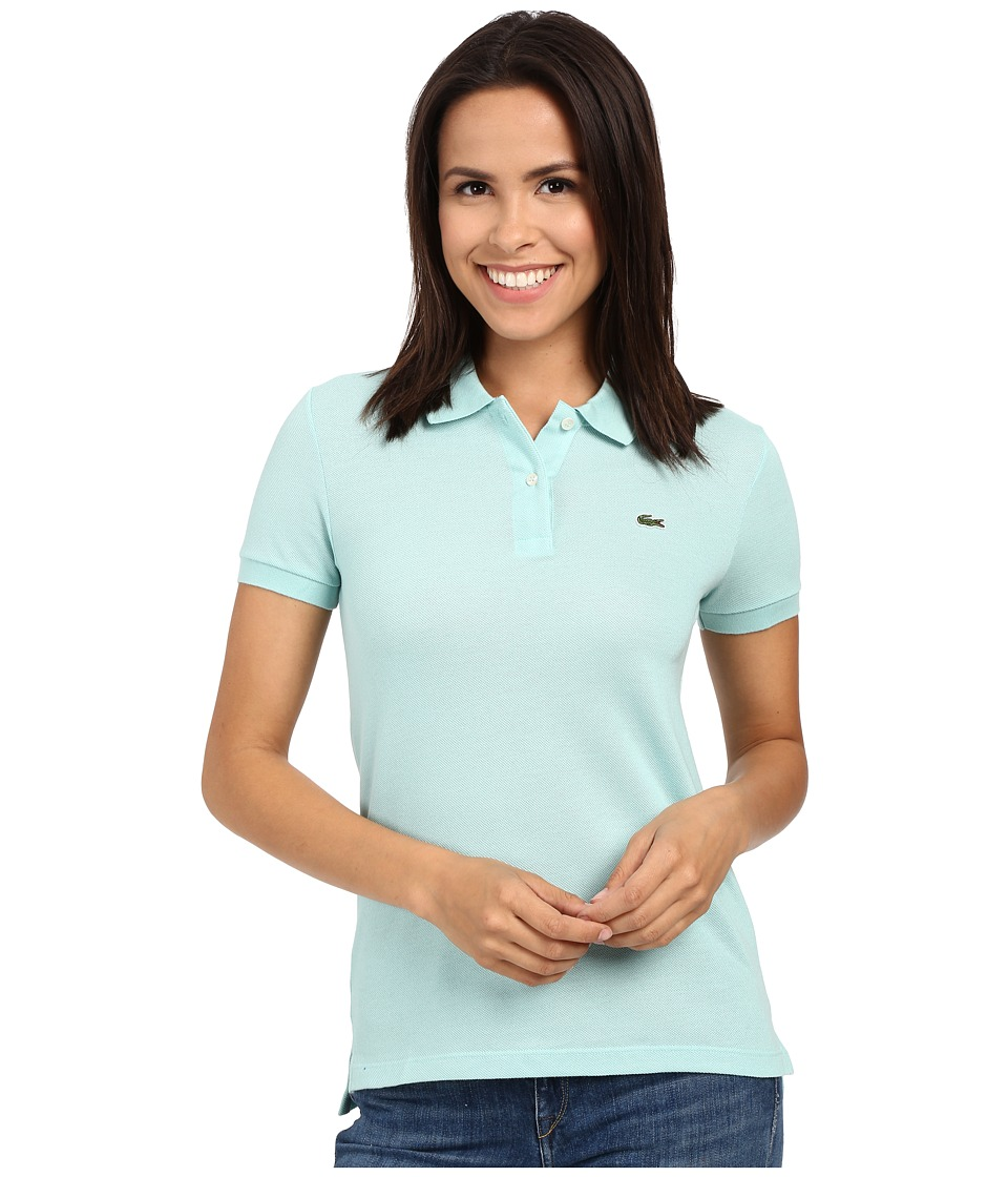 Lacoste - Short Sleeve Classic Fit Pique Polo (Galapagos Green) Women's Short Sleeve Pullover