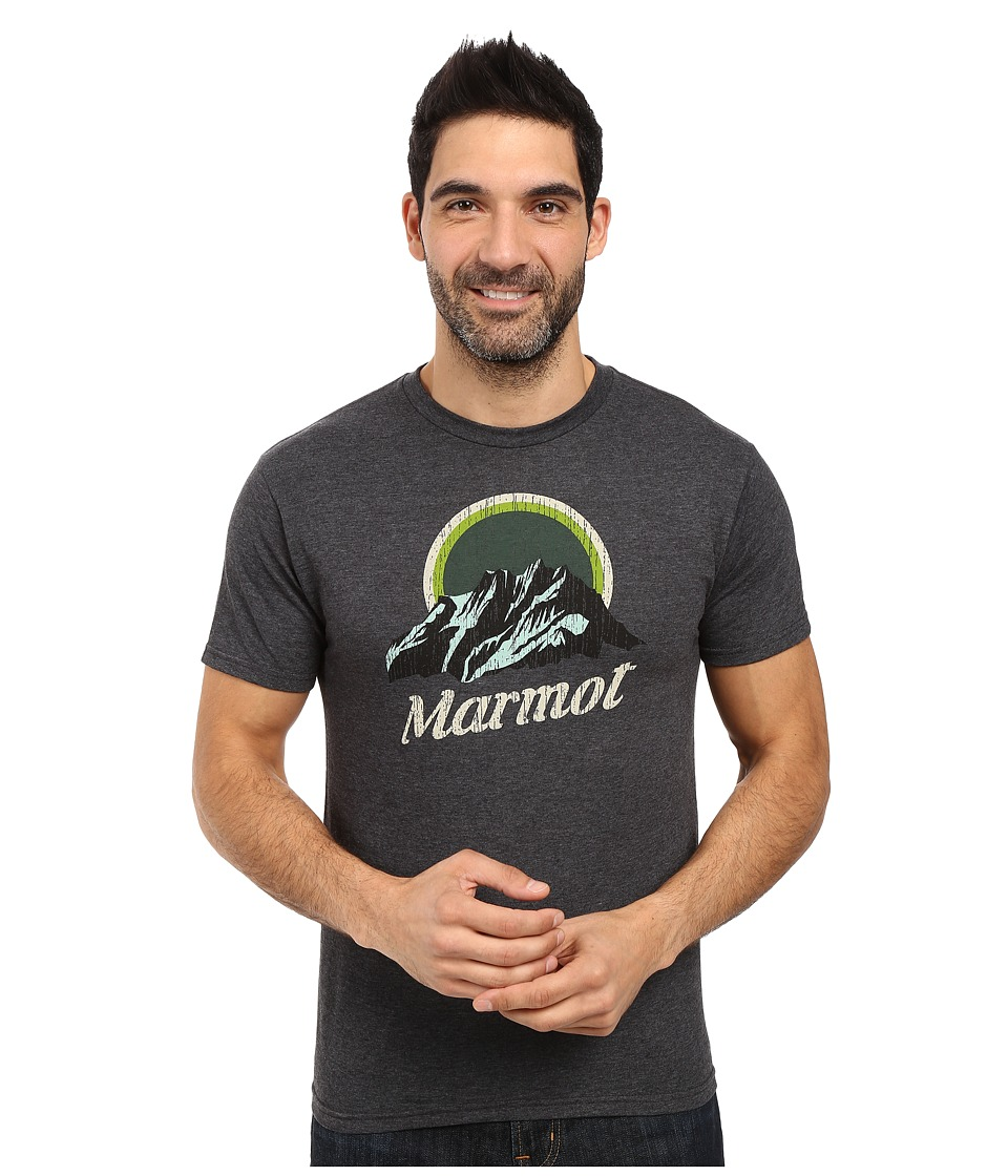 Marmot - Pikes Peak Short Sleeve Tee (Charcoal Heather) Men's Clothing