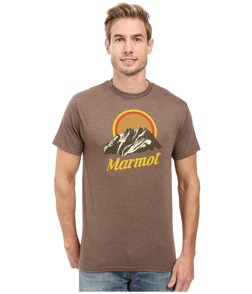 Marmot - Pikes Peak Short Sleeve Tee (Brown Heather) Men's Clothing