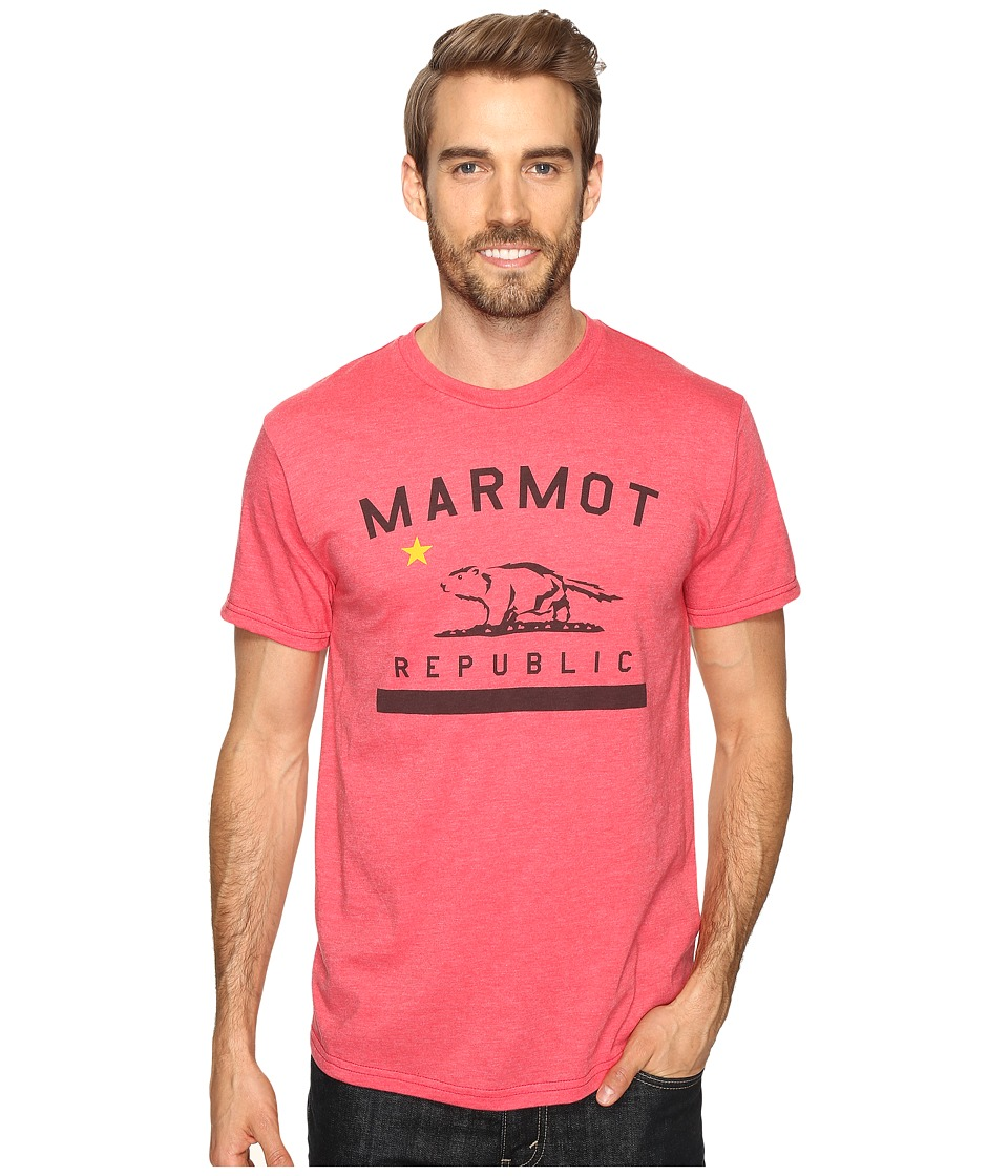 Marmot - Marmot Republic Short Sleeve Tee (Red Heather) Men's T Shirt