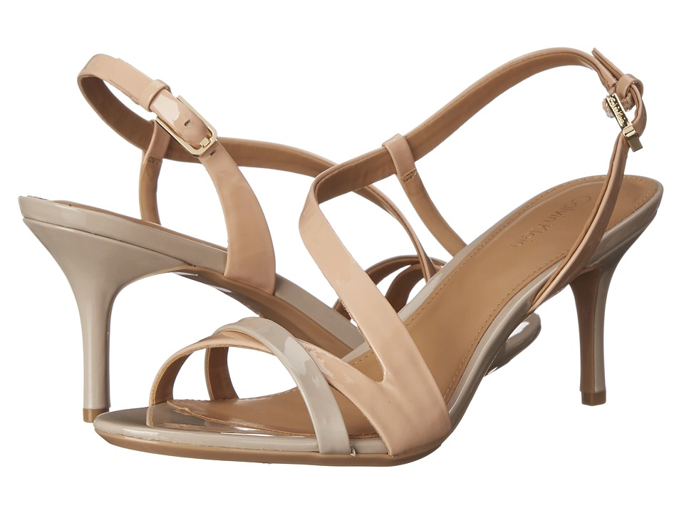 Calvin Klein - Lorren (Blush Nude Patent) Women's Dress Sandals