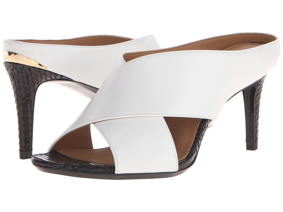Calvin Klein - Luce (Platinum White Leather/Muted Snake Print Leather) High Heels