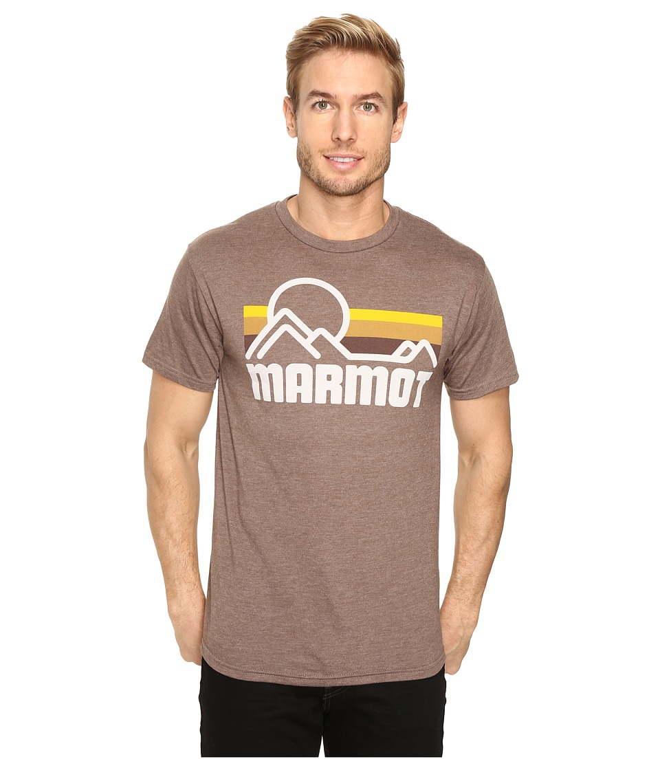 Marmot - Marmot Coastal Tee S/S (True Brown Heather) Men's Short Sleeve Pullover