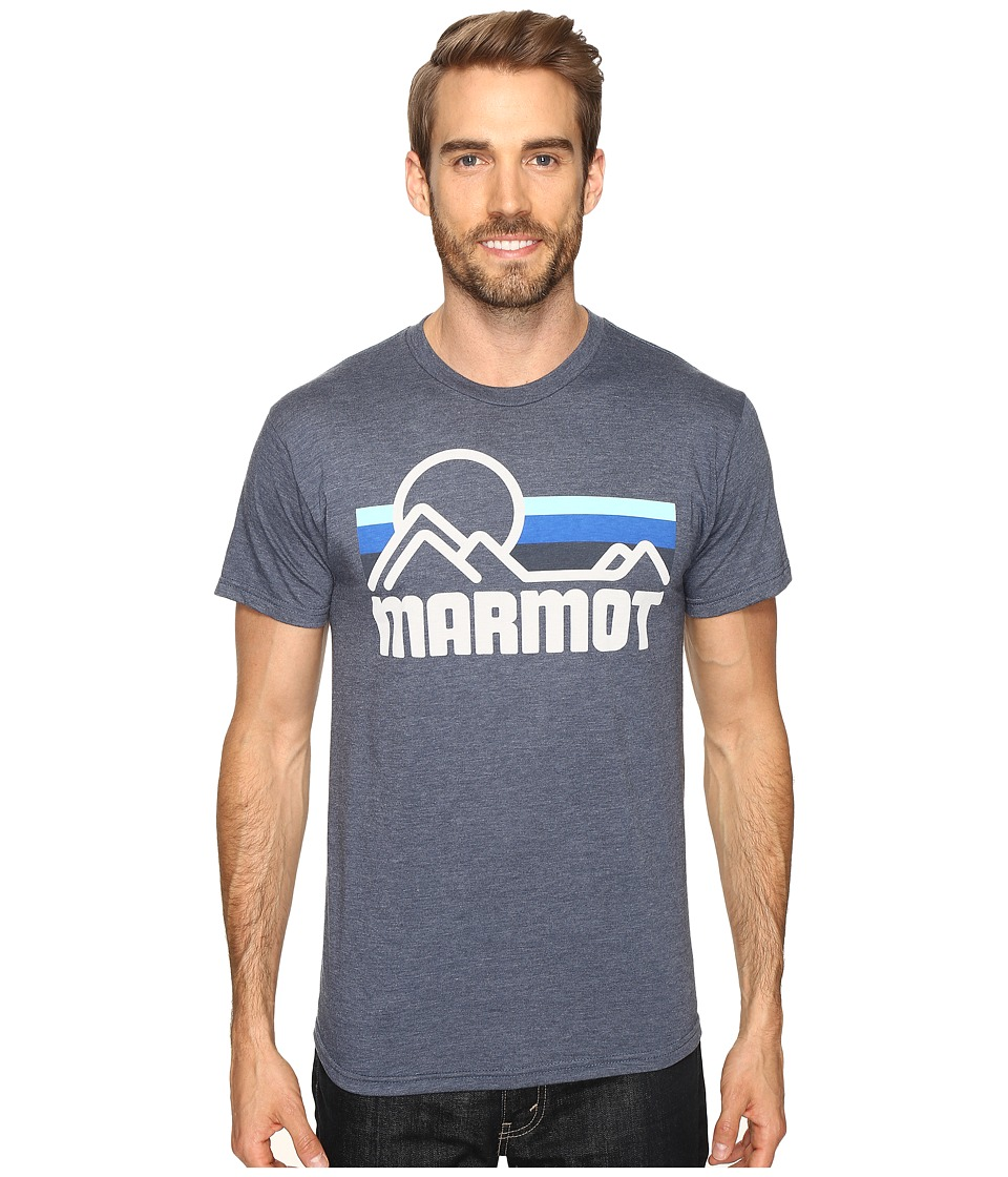 Marmot - Marmot Coastal Tee S/S (True Navy Heather) Men's Short Sleeve Pullover
