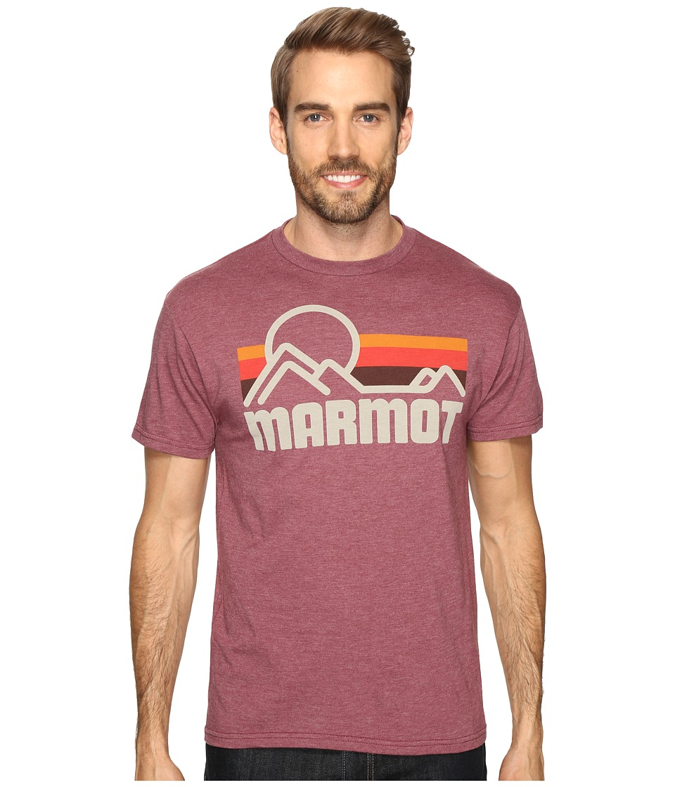 Marmot - Marmot Coastal Tee S/S (Burgundy Heather) Men's Short Sleeve Pullover