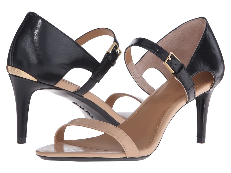 Calvin Klein - Luigina (Sandstorm/Black Leather) High Heels