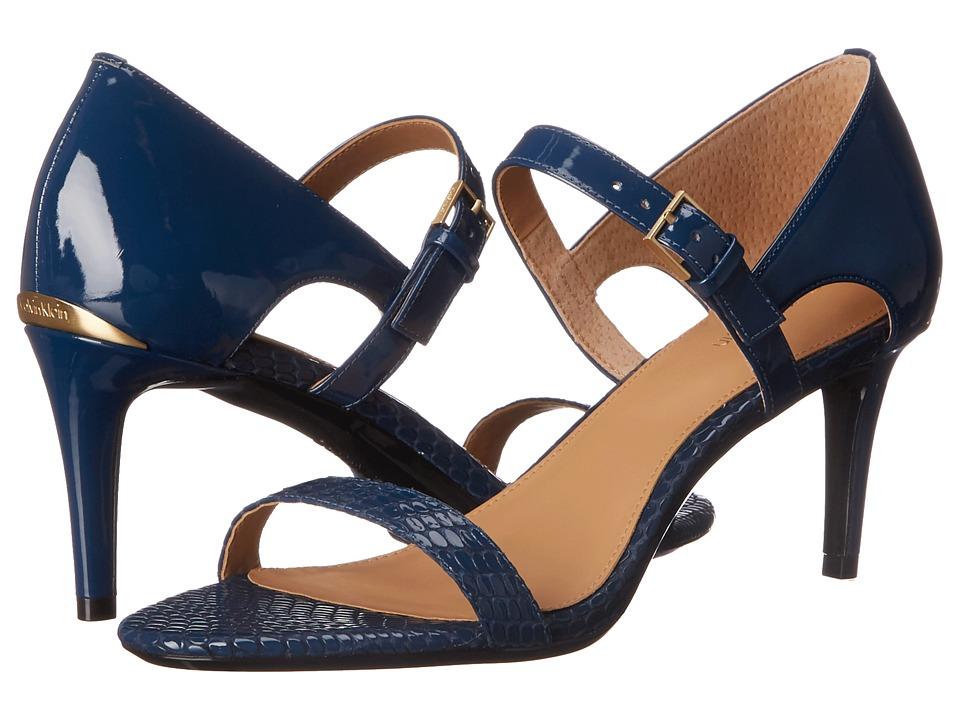 Calvin Klein Luigina (Marine Laquered Snake/Patent) High Heels