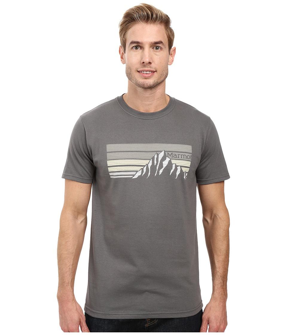 Marmot - Norse Short Sleeve Tee (Charcoal) Men's Clothing