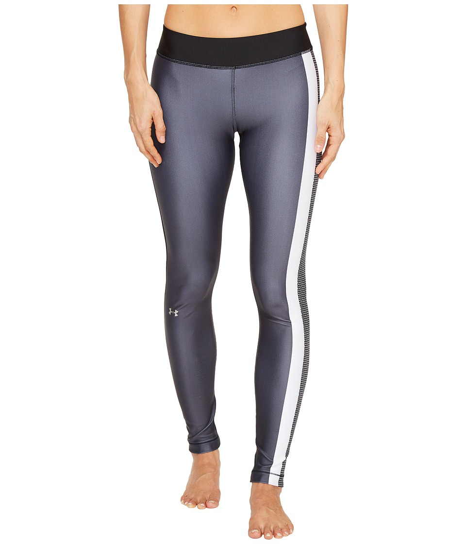 Under Armour - UA HeatGear(r) Engineered Leggings (Black/Stealth Gray/Metallic Silver) Women's Casual Pants