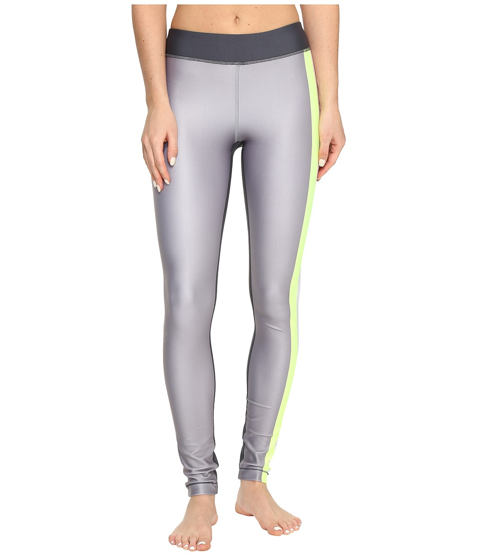 Under Armour - UA HeatGear(r) Engineered Leggings (Carbon Heather/X-Ray/Metallic Silver) Women's Casual Pants