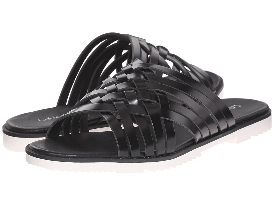 Calvin Klein - Marimba (Black Box Leather) Women's Slide Shoes