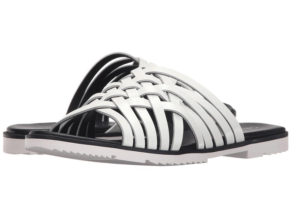 Calvin Klein - Marimba (Platinum White Box Leather) Women's Slide Shoes