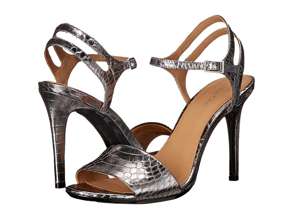 Calvin Klein - Nadina (Steel Metallic Snake Print Leather) High Heels